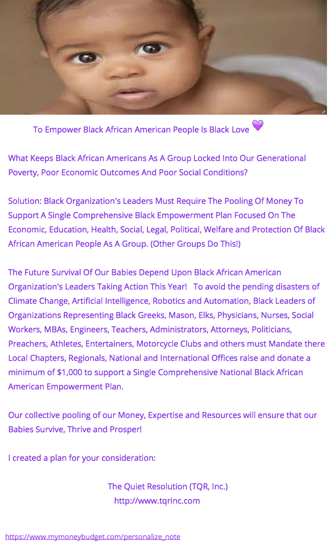 Black People Pooling Our Money To Save Ourselves
